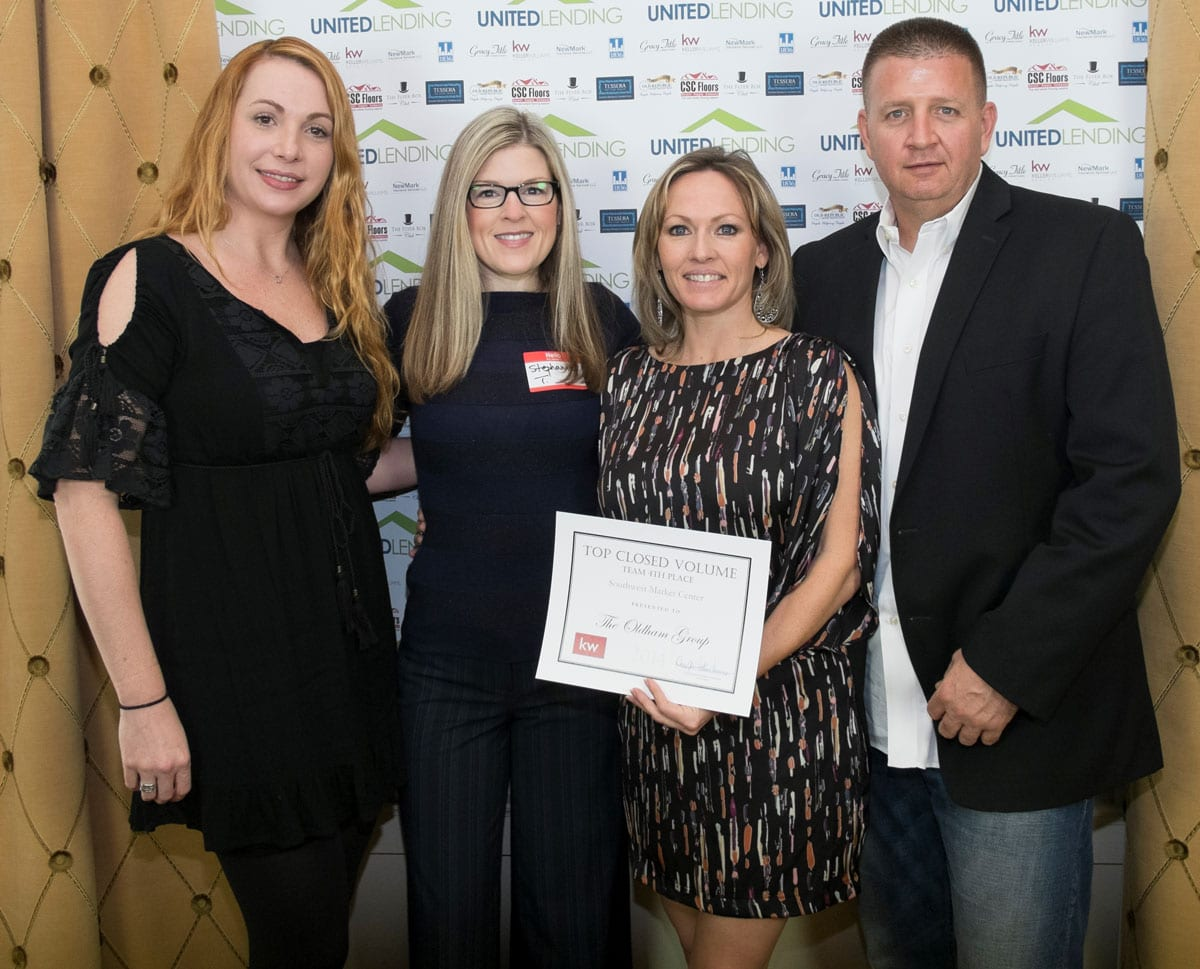 The Oldham Group Awarded at Keller Williams Award Ceremony